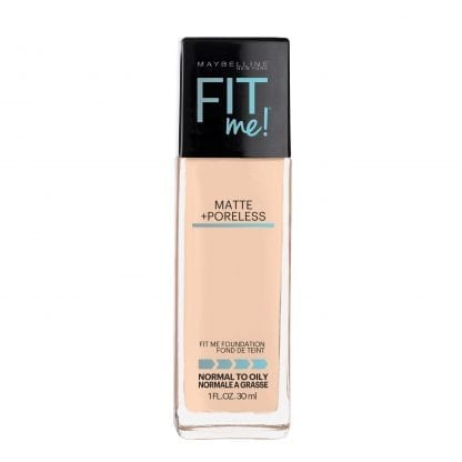 Maybelline Fit Me Matte Poreless Mattifying Liquid Foundation Classic Ivory 120