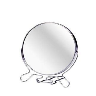 522 ROUND COSMETIC MIRROR Small Travel Two Sided Folding Magnify