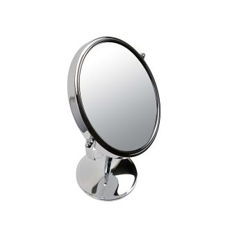Silver Mirror Round on Stand 7x Magnifying