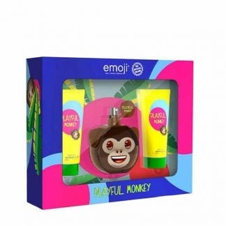 Emoji Playful Monkey 3 Piece Gift Set-1